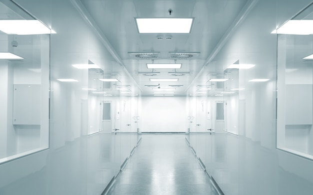 Lege achtergrond van moderne fabrieksomgeving