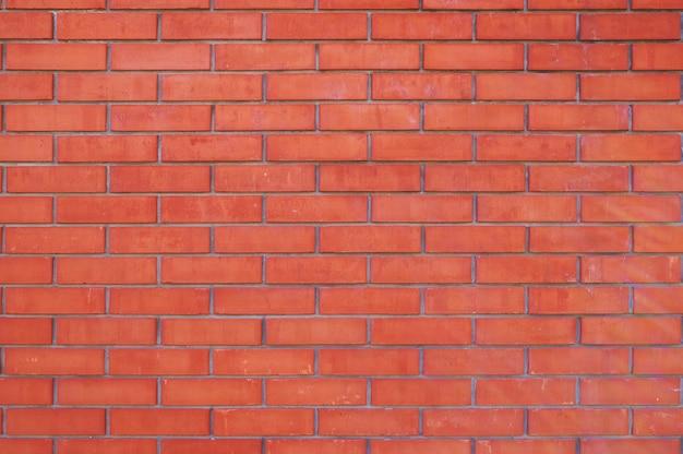 Lege achtergrond van nieuwe rode bakstenen muur.