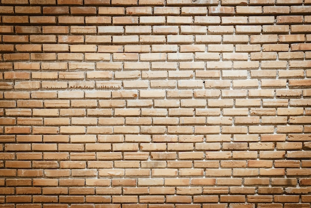 Lege bakstenen muur met kopie ruimte