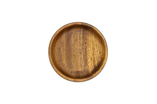 Lege bamboe houten bruine kom