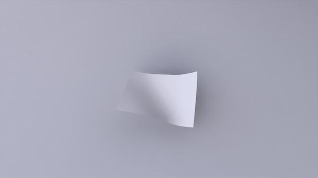 Lege banner wit op een witte achtergrond