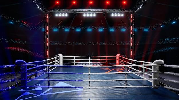 Lege boksarena 3d render illustratie