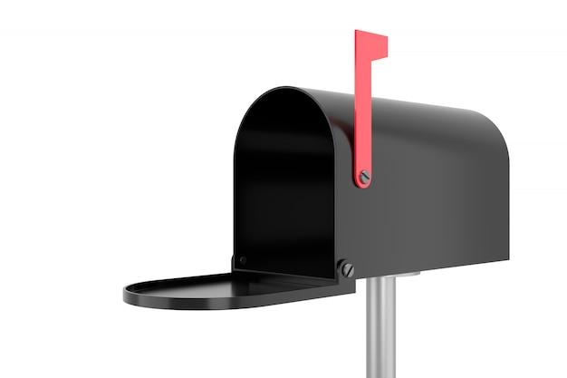 Lege brievenbus. 3d-weergave.