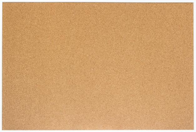Lege cork-raad met wit houten geïsoleerd kader ,.
