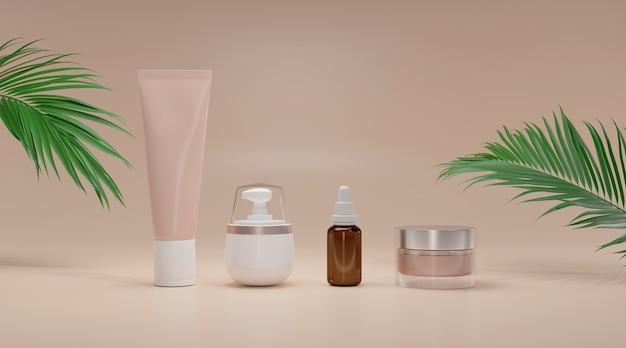 Lege cosmetische verpakkingen.