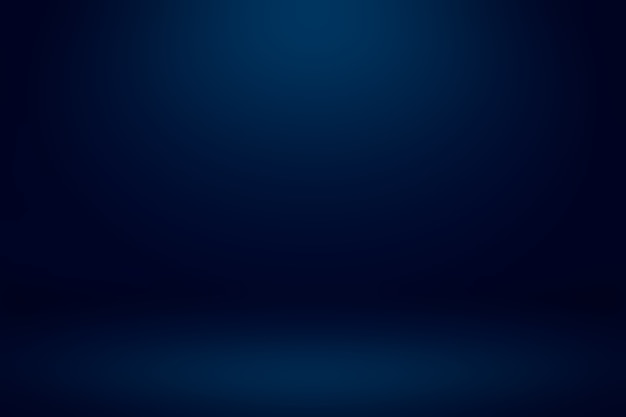 Lege donkerblauwe studioruimte met licht en schaduw abstracte achtergrond