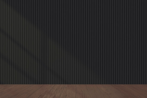 Lege donkere muur in een woonkamermodel