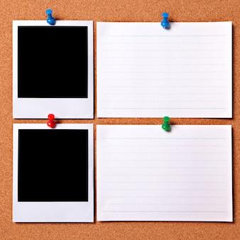 Lege foto's met notitiekaarten
