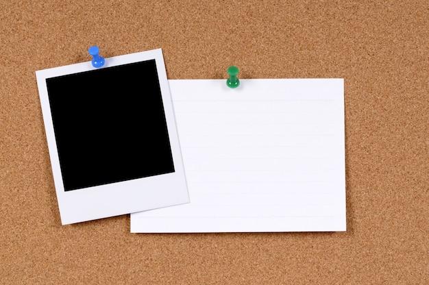 Lege fotoprint met kantoor indexkaart