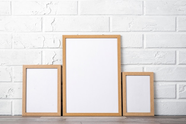 Lege frame-collectie op plank