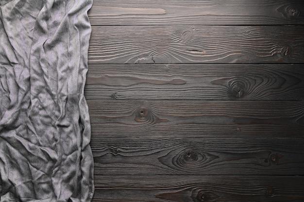 Lege gestripte achtergrond met ruwe doek bovenaanzicht