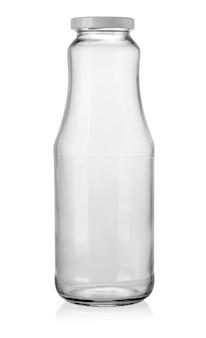Lege glazen pot geïsoleerd op wit