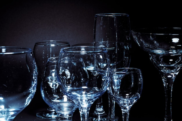 Lege glazen voor drankjes