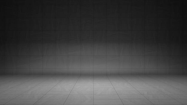 Lege grijze betonnen kamer met abstrack muur