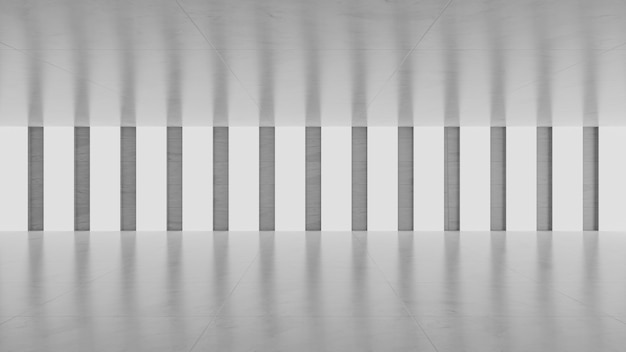 Lege grijze betonnen kamer