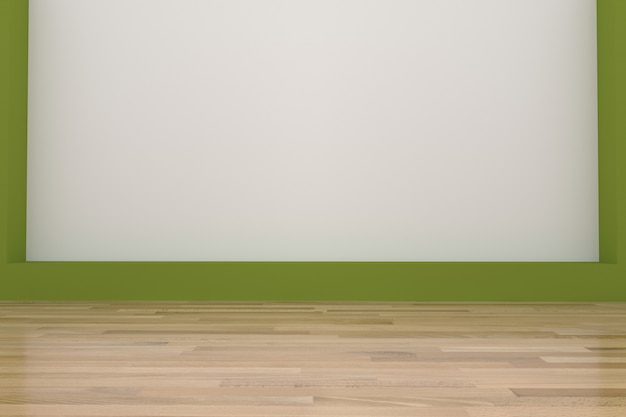 Lege groene ruimte in 3d-weergave