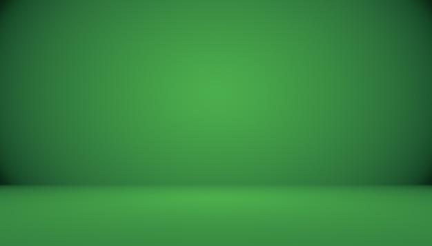 Lege groene studio goed te gebruiken als achtergrondwebsitesjabloonframebedrijfsrapport