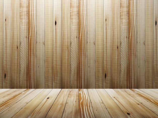Lege houten kamer interieur in lichte tinten