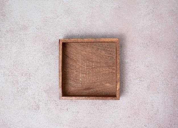 Lege houten kist