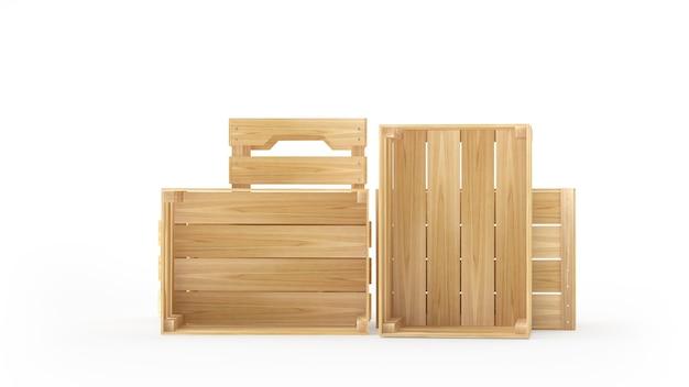 Lege houten kisten of pallets