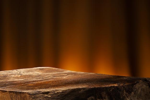 Lege houten tafel