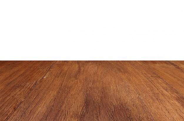 Lege houten vloer perspectief tafelblad achtergrond