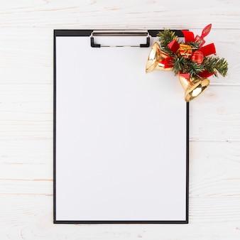 Lege kerstwensenlijst