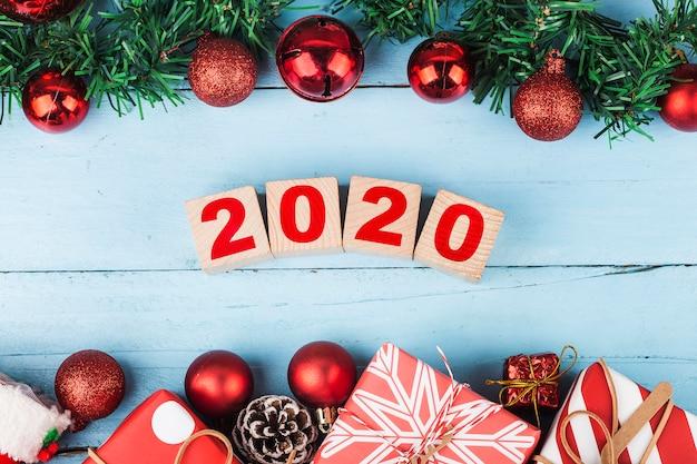 Lege kopie ruimte voor inscriptie. idee van gelukkig nieuwjaar 2020 vakantie. vrolijke christm