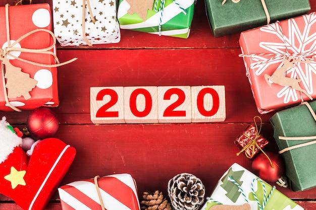 Lege kopie ruimte voor inscriptie. idee van gelukkig nieuwjaar 2020 vakantie.