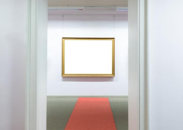 Lege lege frames museum muur hangen.