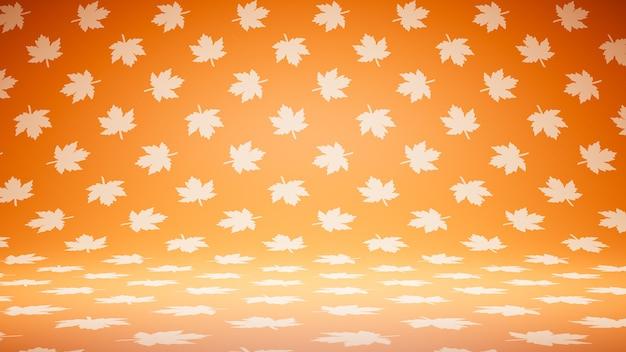Lege lege oranje bladeren patroon studio