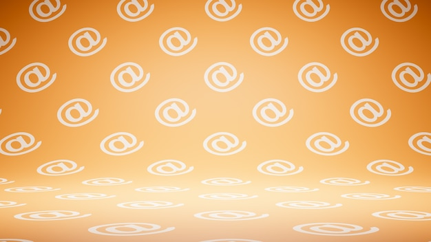 Lege lege oranje e-mailsymboolpatroonstudio