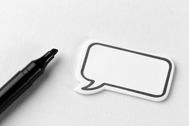 Lege lege praatjebel voor tekst