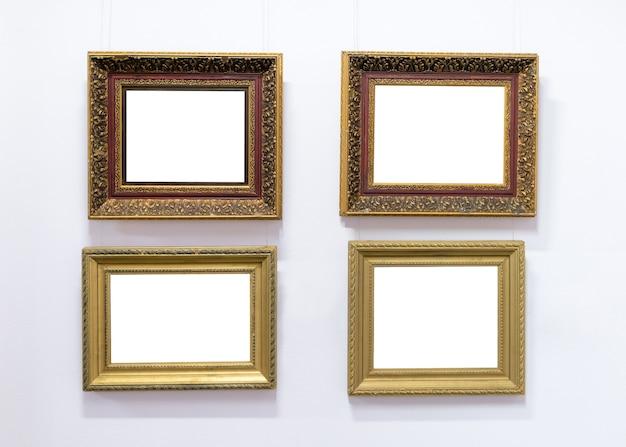 Lege lege schilderij frames museum muur hangen. Premium Foto