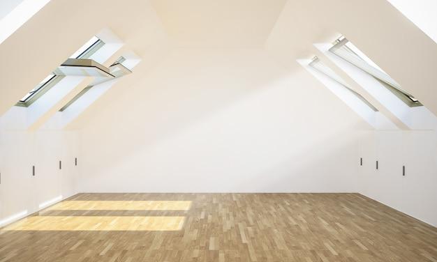 Lege moderne zolderkamer