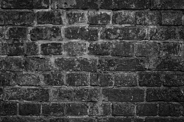 Lege moderne zwarte vuile bakstenen muurtextuur