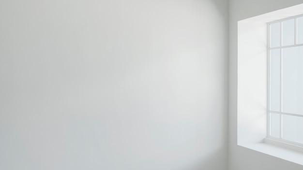 Lege muur in de woonkamer
