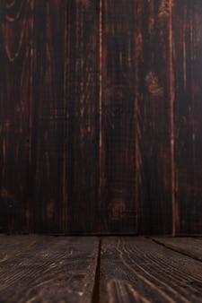 Lege oude houten achtergrond, rustiek ontwerp, verticale copyspace.