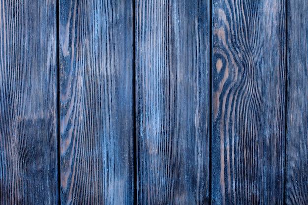 Lege oude shabby blauw geschilderde houten achtergrond voor design