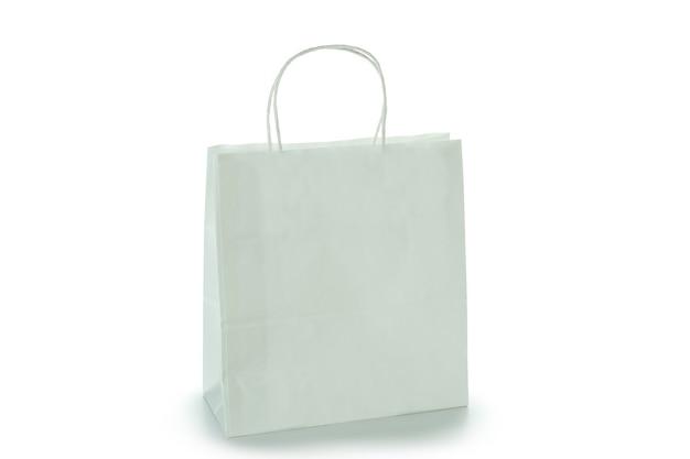 Lege papieren zak geïsoleerd op wit