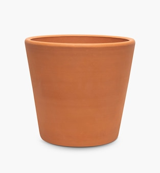 Lege plantenpot van terracotta klei