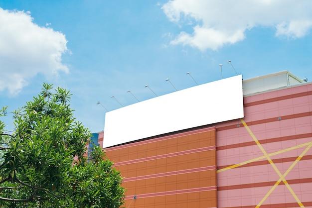 Lege poster billboard muur met kopie ruimte voor uw sms-bericht of conten
