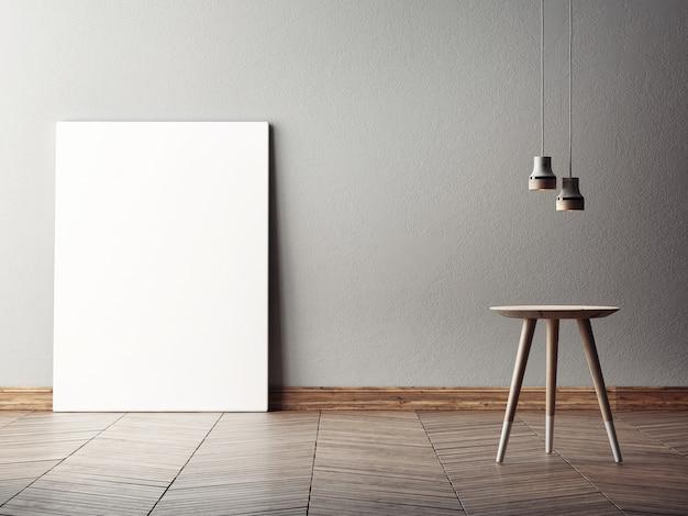 Lege poster in abstracte interieur compositie