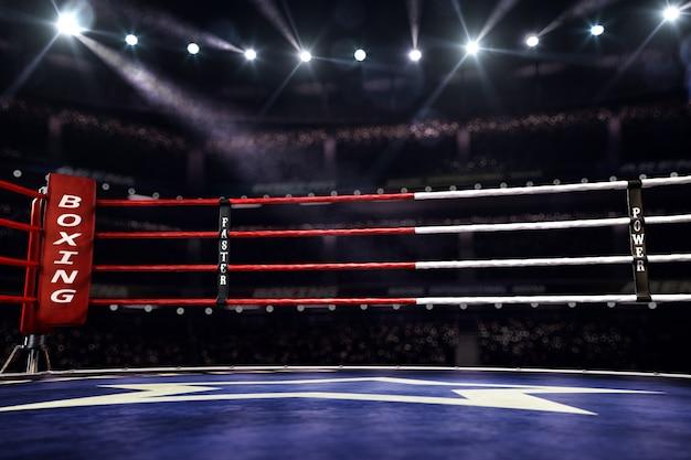 Lege ring boksen arena achtergrond
