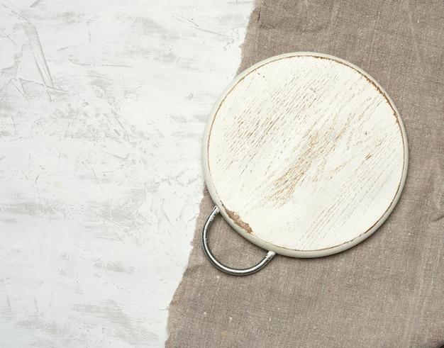 Lege ronde kleine snijplank
