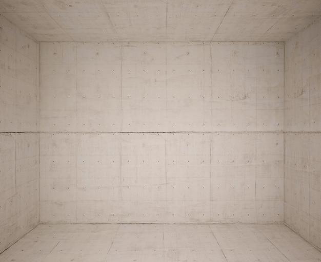 Lege ruimte met betonwol