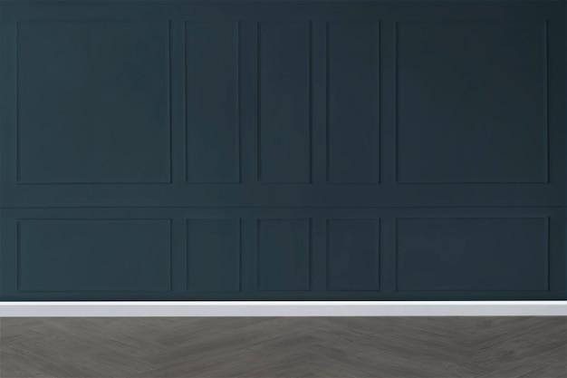 Lege ruimte met blauw patroonmuurmodel