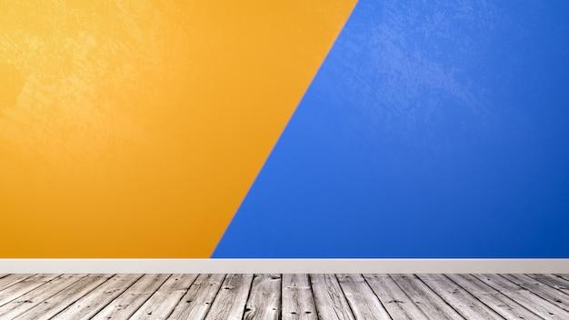Lege ruimte met duotoon muur achtergrond
