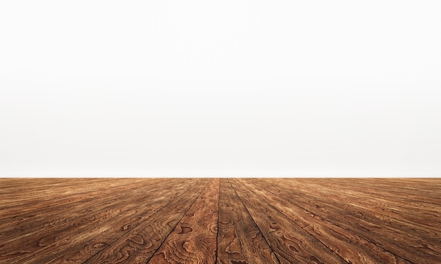 Lege ruimte met houten tafelblad achtergrond Premium Foto