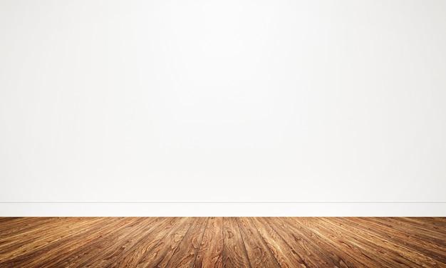 Lege ruimte met houten vloerachtergrond Premium Foto